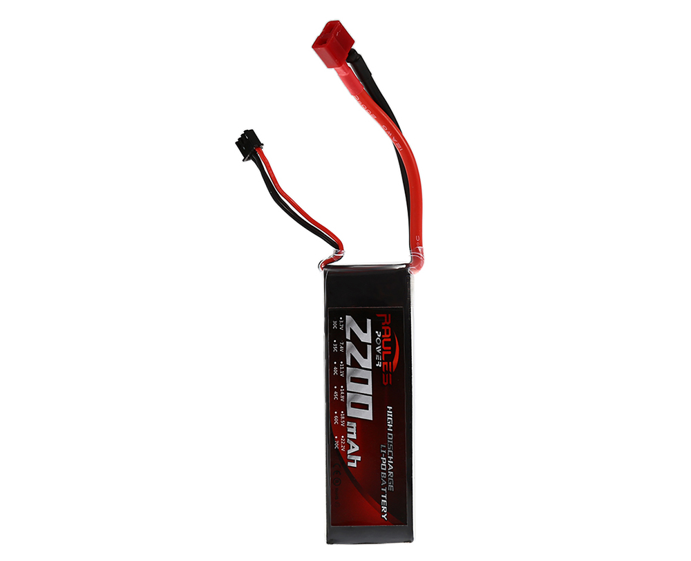 2200mAh 7.4V 2S 30C LiPo Battery with Female T Plug for RC Cars Ships Airplanes