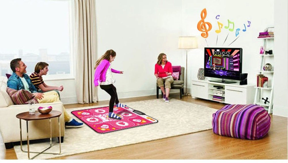 Wubawang HD Non-slip Dancing Pad Dance Mat Fitness Equipment for PC with USB