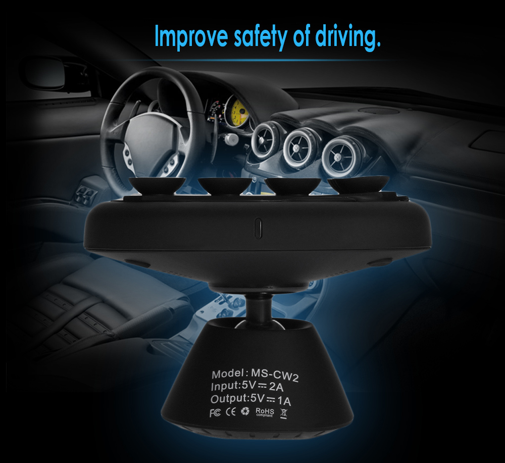 MS - CW2 Car Wireless Charger Transmitter Dashboard Mounted Phone Stand Holder