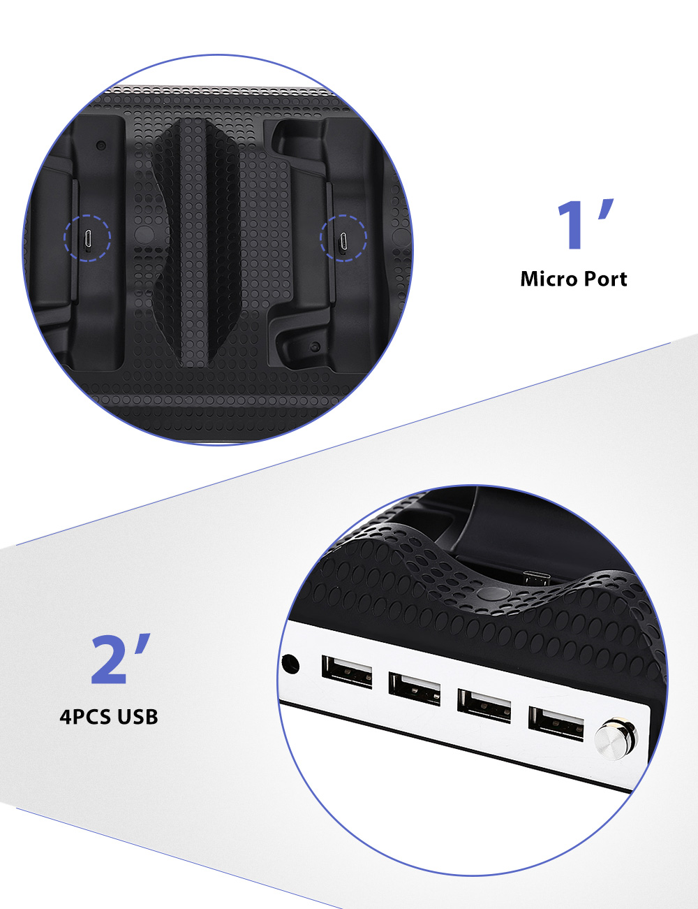 Dual Charger 4PCS USB Port Bracket for Xbox One S