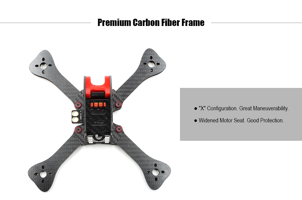 GEPRC Fairy GEP - IX5 200mm Carbon Fiber Frame Kit with LED Taillights / Buzzer / PDB