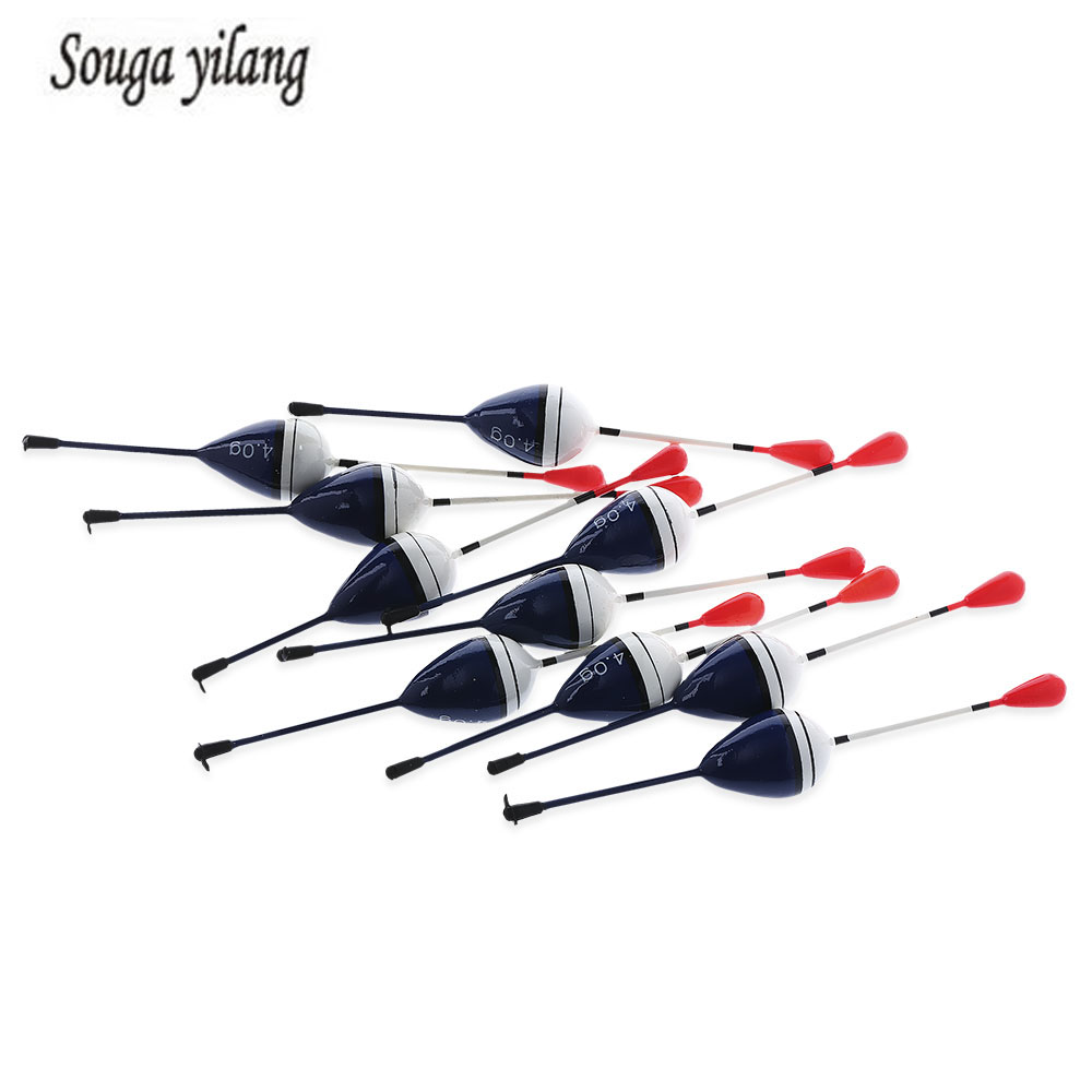 Sougayilang 10pcs 4g Outdoor Stable Cedar Wood Floating Fishing Float