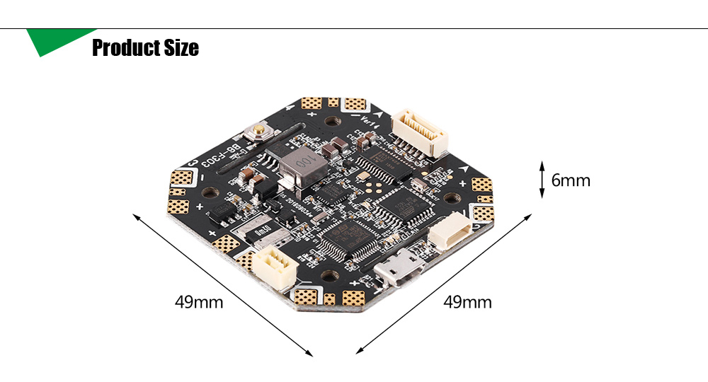 B6 F303 F3 Flight Control Board with Integrated OSD Ammeter for Racing Multirotors