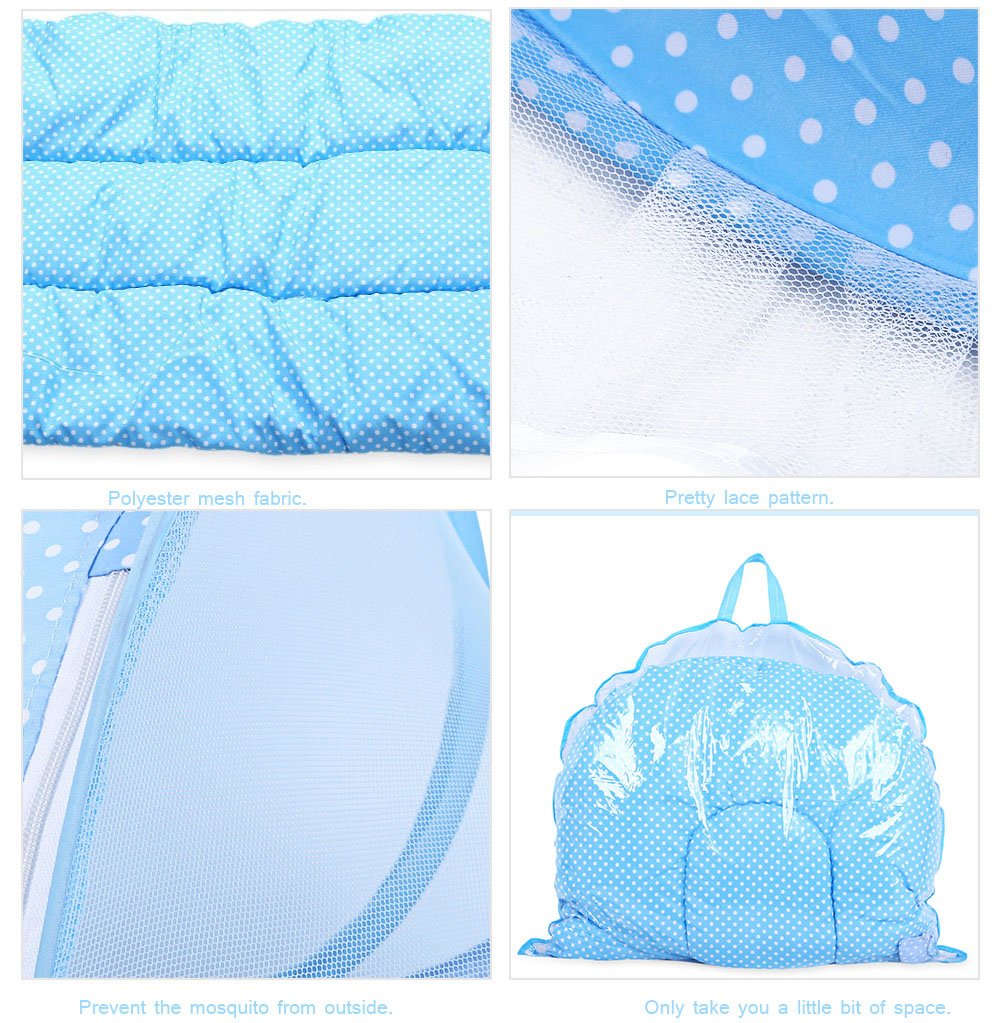 4pcs Portable Type Comfortable Babies Pad with Sealed Mosquito Net