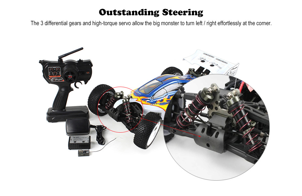 ZD Racing 08425 1:8 RC Off-road Running Truck RTR 2.4GHz 4WD / 9kg High-torque Servo / Shock Absorbers