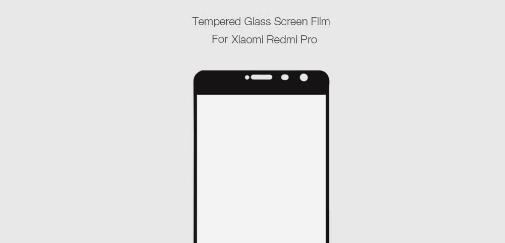 ASLING Tempered Glass Full Cover Screen Film for Xiaomi Redmi Pro Explosion-proof Protector