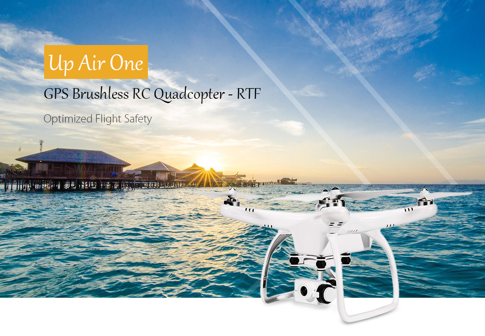 Up Air One GPS Brushless RC Quadcopter RTF WiFi FPV 2-axis Gimbal / Waypoints / Follow Me Mode